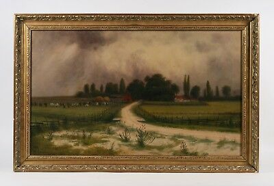 American Midwestern Landscape Painting by James Everett Stuart / Illinois 1902