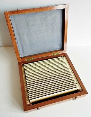 FINE COLLECTION OF 23 ANTIQUE RULERS IN FITTED BOX - CLEMENT WILLIAMS of HALIFAX