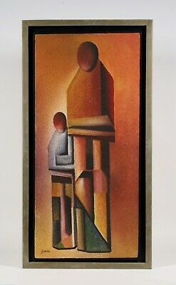 Antonio Serna (1936-2012)-Mexican Modernist Abstract Figural Painting-Southwest