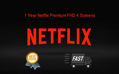1 Year Netflix Premium ✅ USA Account ✅ FHD 4 Screens ✅ Private Warranty
