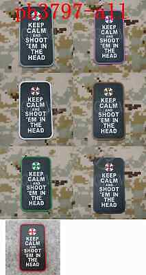 Resident Evil Umbrella Corporation KEEP CALM AND SHOOT Morale 3D PVC Patch