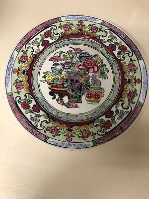 Antique Chinese 19th Century Qing Dynasty Enameled Porcelain Plate