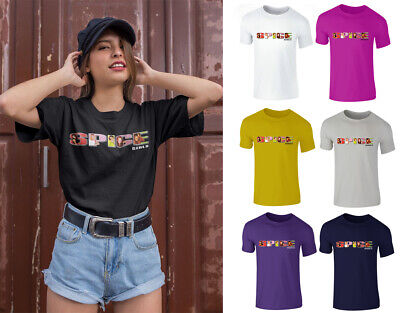 Womens Vintage Spice Girls 2019 Ladies Tour Concert Festival Baggy T-Shirt Top