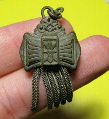 Amazing SPANISH MEDIEVAL MEDAL HARNESS DREAM CATCHER  PENDANT 14-15th. C