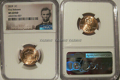 2019 P Lincoln SHIELD Cent 1c NGC MS 68 RD Lincoln Label FIRST RELEASES