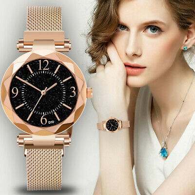 Ladies Watch Starry Sky Women Bracelet Watches Magnetic Stainless Wristwatches t
