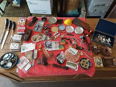 Huge Collectible Junk Drawer Lot costume jewelry Craftsman keychain ashtray