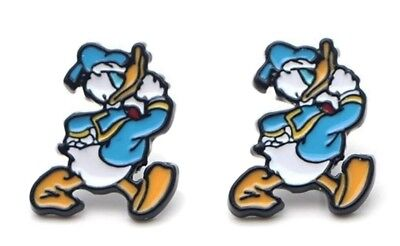 Donald Duck Walking Emaille Metall Ohrstecker