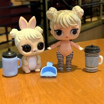 LOL Surprise doll& pet Series 2 Curious QT & Cottontail QT Pet Family SDUS1