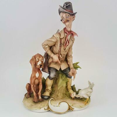 Capodimonte Porcelain Giuseppe Cappe Signed THE REPROACHFUL HUNTER Figurine