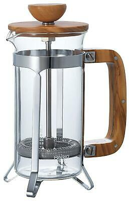 Hario Olive Wood Cafe Press Coffee Maker - 300mL Transparent Free Shipping!