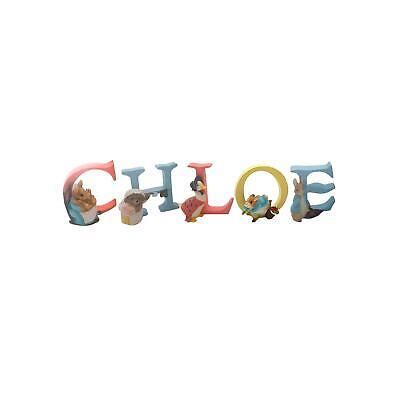 Official Licensed Beatrix Potter Peter Rabbit Girls Name Chloe Alphabet Letters