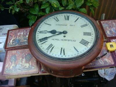Vintage Old Antique Clock Parts Fusee Wall Clock Movement Come inside  The Case
