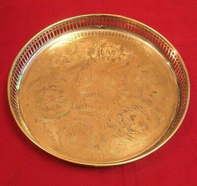 Vintage Silver Plated Gallery Tray - 24cm Ø