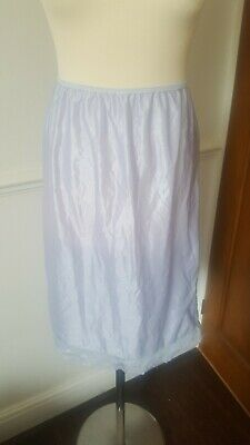 My lovely Vintage SILKY  NYLON HALF SLIP  cornflower blue size 10/12