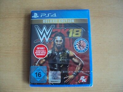 WWE 2K18 - Deluxe Edition (Sony PlayStation 4, 2017) Neu & OVP