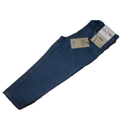 NEW GIRLS EX STORE MID BLUE STRETCH DENIM SKINNY JEGGINGS JEANS Age 1 - 7 years