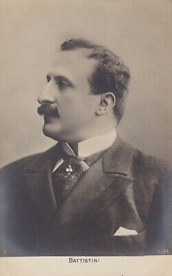 "1912 Mattia Battistini - Italian ""King of Baritones"" - Original Signed Postcard"