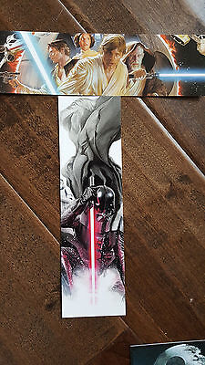 2015 Swca Star Wars Celebration Alex Ross Promo Card Marcapáginas Set de 2 Luke
