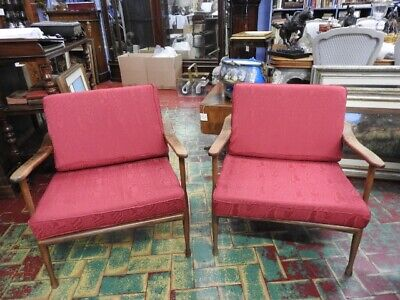 Pair of Chairs Years 60 Modernism Interior Design Attrib to Cassina