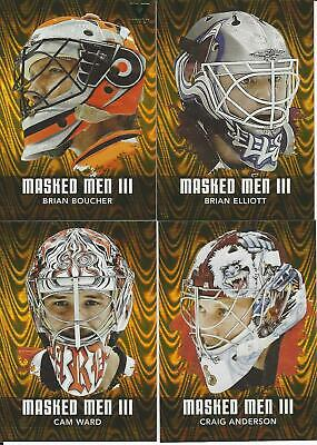 2010-11 In The Game  Between The Pipes Cam Ward Masked Men Iii Gold /10