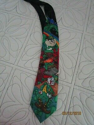 d047fe91fa5c Looney Tunes Irish St Patricks Day Neck Tie Length 59 Wide 3.5 inches  Polyester