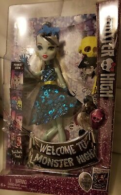 "Monster High - Welcome To Monster High - ""Frankie Stein"" Doll New"
