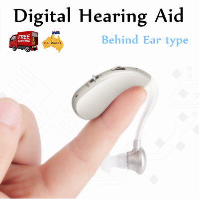 Adjustable Hearing Aid Behind Ear USB Rechargeable Digital Noise Reduction AU