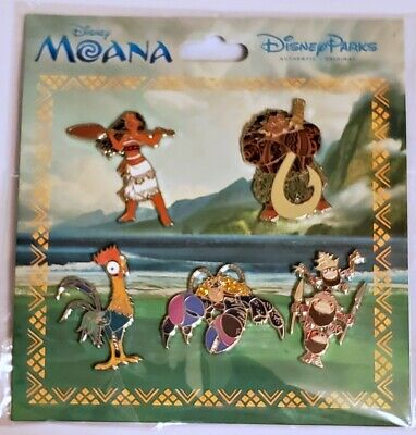 Disney Parks 5 pin set MOANA - booster pack - Sealed NEW