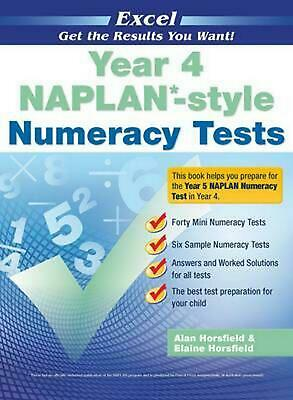Naplan* Style Numeracy TST Yr 4 Paperback Book Free Shipping!