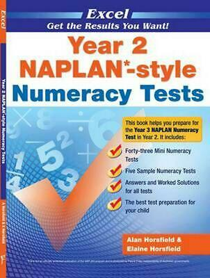 NAPLAN-Style Numeracy Tests - Year 2 by Alan Horsfield Paperback Book Free Shipp