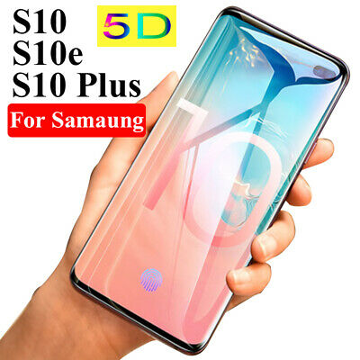 5D Tempered Glass Screen Protector For Samsung Galaxy S7 S8 S9 S10e S10 Plus Dr
