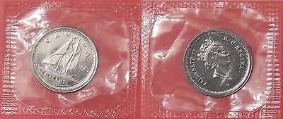 Proof Like 2003P Canada Crowned 10 Cents Sealed in Cello