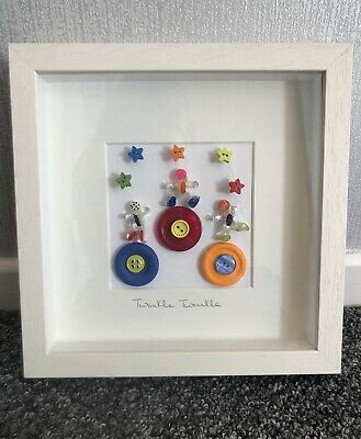 Beautiful Hand Made Twinkle Twinkle Button Baby Picture. By Button Girl