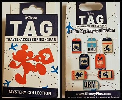 Disney Collectible Pin Pack TAG Mystery Box of 2 Pins Sealed NEW