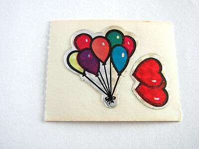 Vintage 80's BJ Decal Specialties Prism Balloons Sticker