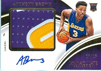 2015 Immaculate Anthony Brown Autograph Rookie Patch Card #'d /25 - L.A. Lakers