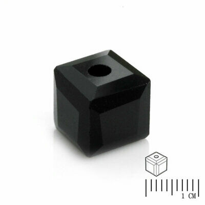 100pcs Crystal Cube Beads Square Loose Spacer DIY Jewelry findings Black 4mm