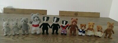 Sylvanian Families VINTAGE Figure Bundle x 12 Bears, Badgers, Foxes, Rabbits
