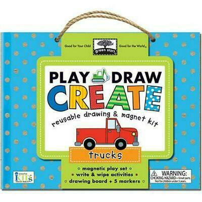 Play Draw Create Trucks: Reuseable Drawing & Magnet Kit by Innovative Kids (Engl