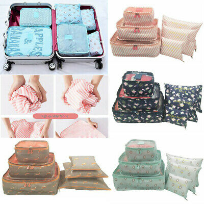 6pcs Packing Cube Pouch Travel Clothes Suitcase Storage Bags Luggage Organizer