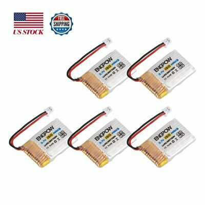 5PCS Engpow 3.7V Rechargeable Lipo Battery Mini PH2.0 Plug For JJRC H36 RC Drone