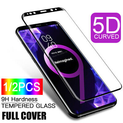 1/2x For Samsung Galaxy S9 S8 Plus Full Cover Tempered Glass Screen Protector Ya