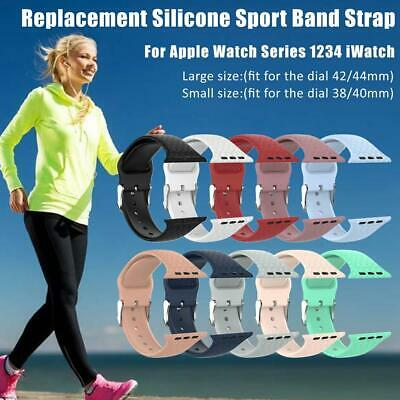 Silicone Bracelet Sports Band Strap For Apple Watch Series 4/3/2/1 38/40/42/44mm