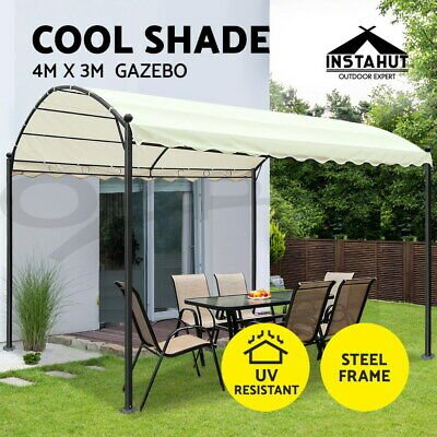 Instahut Gazebo 4x3 Party Outdoor Wedding Event Marquee Tent Iron Art Canopy