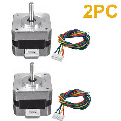 2pcs 28Ncm Nema 17 Stepper Motor 0.4A 1.8° 4Wire Cable For 3D printer CNC Reprap