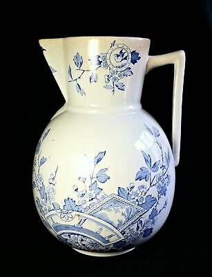 Antique Holmes Plant Mayd Stoneware 2 Gallon Pitcher Jug England 1872