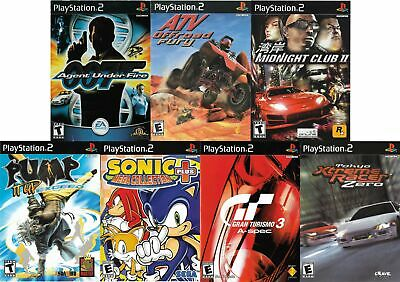 Sony PlayStation 2 PS 2 Lot of 7 Video Game Sonic 007 Pump it Up Gran Turismo 3