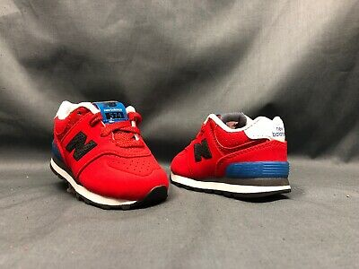 sports shoes ca228 957f1 NEW BALANCE 574 Athletic Sneakers Red KL574A2I Toddlers Size 4 NEW!