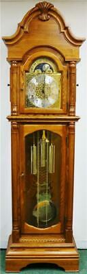 Vintage Hermle 3 Weight Musical Westminster Chime Regulator Longcase Clock